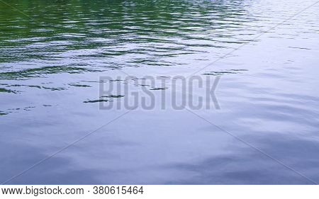 Abstract Blue Sea Water Background, Nature Background Concept. Abstract Blue And Green Sea Water Bac