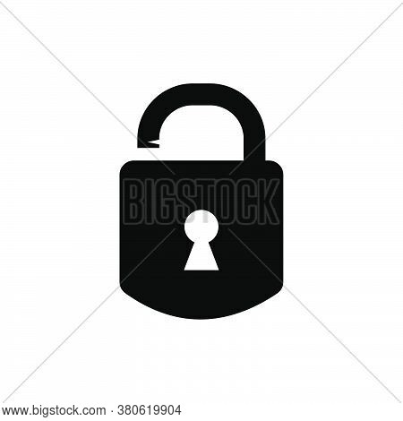 Lock Icon Vector. Lock Icon Black On White Background. Lock Icon Simple And Modern For App, Web And