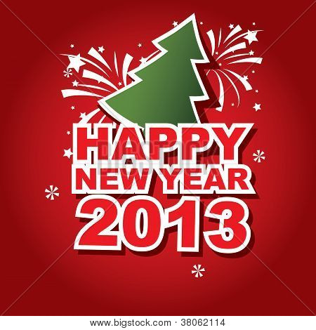 vector banner New Year 2013