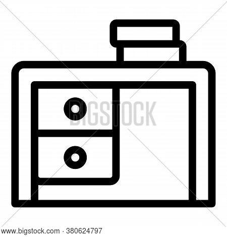 Bedroom Desktop Icon. Outline Bedroom Desktop Vector Icon For Web Design Isolated On White Backgroun
