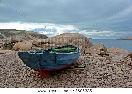 Beach with boat