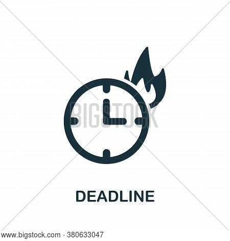 Deadline Icon. Simple Element From Time Management Collection. Creative Deadline Icon For Web Design