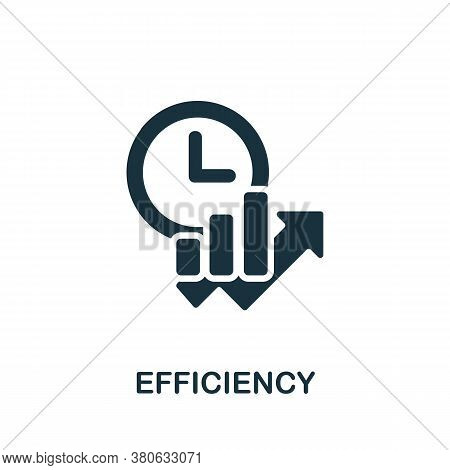 Efficiency Icon. Simple Element From Time Management Collection. Creative Efficiency Icon For Web De