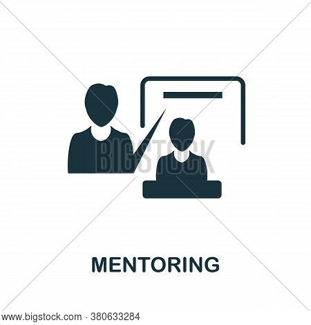 Mentoring Icon. Simple Element From Team Building Collection. Creative Mentoring Icon For Web Design