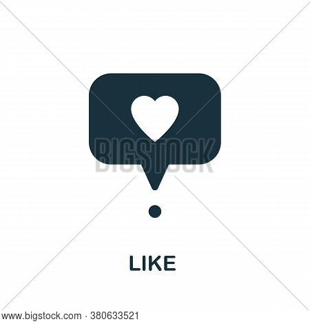 Like Icon. Simple Element From Social Media Collection. Creative Like Icon For Web Design, Templates