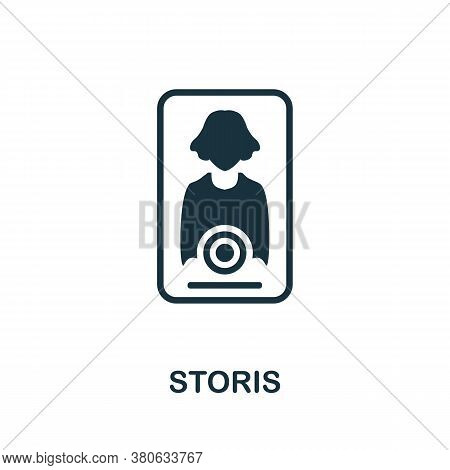 Storis Icon. Simple Element From Social Media Collection. Creative Storis Icon For Web Design, Templ