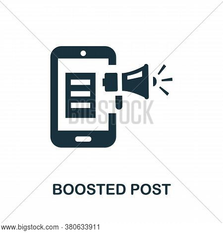 Boosted Post Icon. Simple Element From Social Media Collection. Creative Boosted Post Icon For Web D