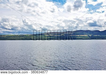 Lake Loch Ness In Scotland, Uk