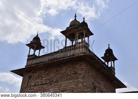 Gwalior, Madhya Pradesh/india : March 15, 2020 - Top View Of Vikram Mahal Of Gwalior Fort