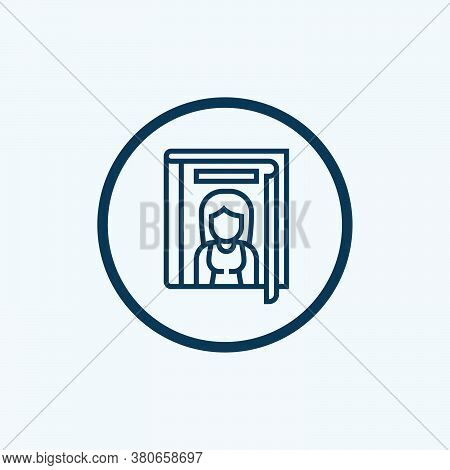 Magazine Icon Isolated On White Background From Advertisement Collection. Magazine Icon Trendy And M