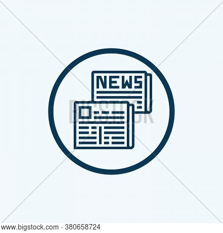 Newspaper Icon Isolated On White Background. Newspaper Icon In Trendy Design Style. Newspaper Vector