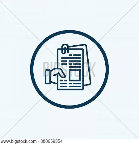 Notes Icon Isolated On White Background From Videoblogger Collection. Notes Icon Trendy And Modern N