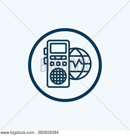 Voice Recorder Icon Isolated On White Background From Music Collection. Voice Recorder Icon Trendy A