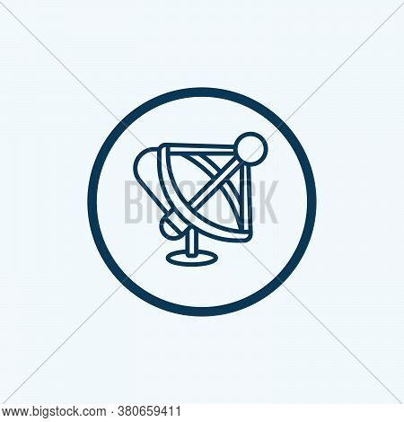Satellite Dish Icon Isolated On White Background From News Collection. Satellite Dish Icon Trendy An