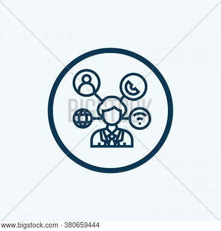 Network Icon Isolated On White Background From Marketing Collection. Network Icon Trendy And Modern