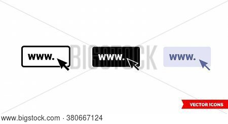 Site Icon Of 3 Types Color, Black And White, Outline. Isolated Vector Sign Symbol.
