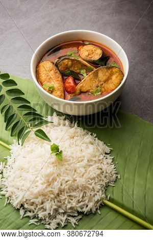 Spicy Fish Curry - Popular Indian Seafood Served With Rice