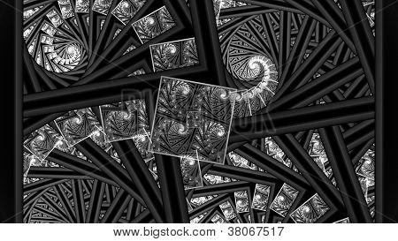 Escher Like 3D Fractal Spiral