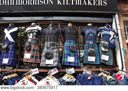Edinburgh, Scotland / Uk - 6 Aug 2013: Some Kilts In Edinburgh, Scotland