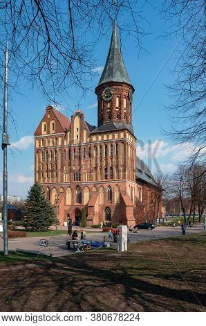 Kaliningrad Cathedral, The Historical Center Of The City And The Grave Of Immanuel Kant, Russia, Kal