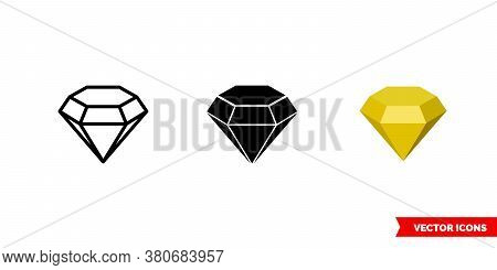 Topaz Symbol Icon Of 3 Types Color, Black And White, Outline. Isolated Vector Sign Symbol.