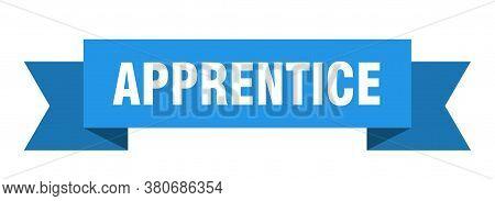 Apprentice Ribbon. Apprentice Paper Band Banner Sign