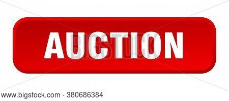 Auction Button. Auction Square 3d Push Button