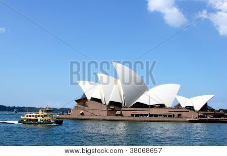 Sydney Opera House and ferry boat  at  Circular Quay