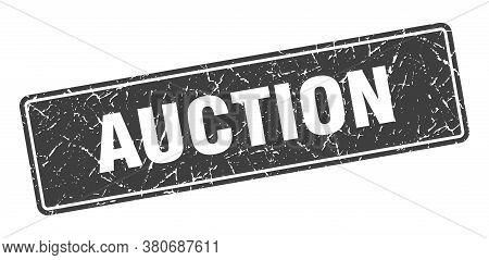 Auction Stamp. Auction Vintage Gray Label. Sign
