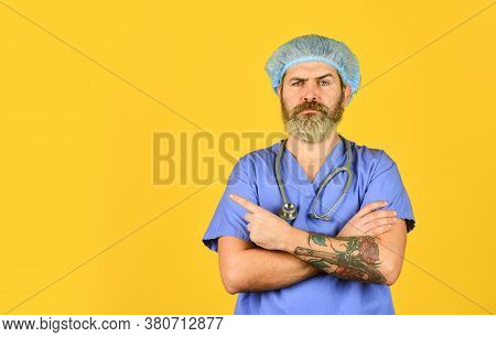 Hipster Work At Hospital. Health Care. Doctor Occupation. Medical Insurance. Incubation Period. Doct