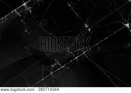 Abstract Background. Black Blank Poster Background. Wrinkled Texture. Texture Macro. Crumpled Paper