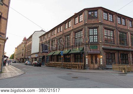 Gothenburg, Sweden - June 16 2019: The Front View Of Byns Bistro On June 16 2019 In Gothenburg, Swed