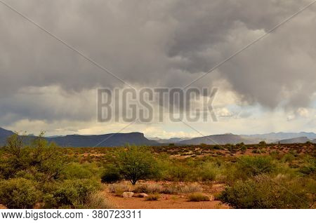 Mountain In The Sonora Desert In Central Arizona Usa