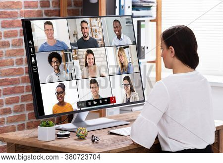 Online Video Conference Web Call. Business Videoconferencing