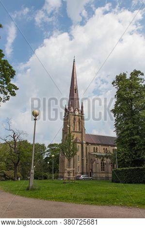 Gothenburg, Sweden - June 18 2019: Exterior View Of Haga Church On June 18 2019 In Gothenburg, Swede
