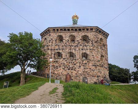 Gothenburg, Sweden - June 16 2019: The View Of Skansen Kronan Fortress On Risasberget Hill On June 1