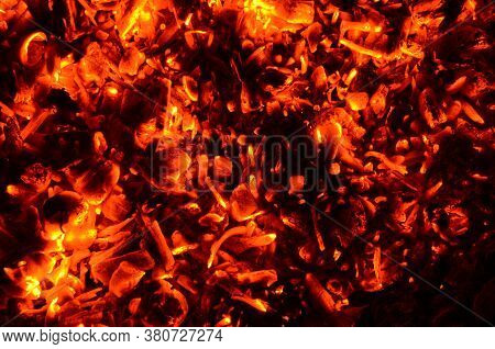 The Graphic Resource Consists Of Glowing Charcoals From An Extinct Fire.