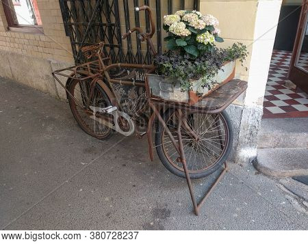 Gothenburg, Sweden - June 18 2019: The View Of Vintage Bicycle On June 18 2019 In Gothenburg, Sweden