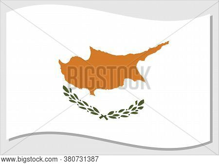 Waving Flag Of Cyprus Vector Graphic. Waving Cypriot Flag Illustration. Cyprus Country Flag Wavin In
