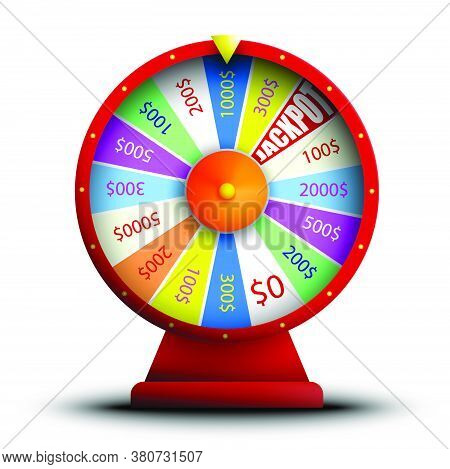 Wheel Of Fortune, Jackpot, Main Prize. Luck, Casino And Gambling. Spin The Roulette, Try Your Luck.