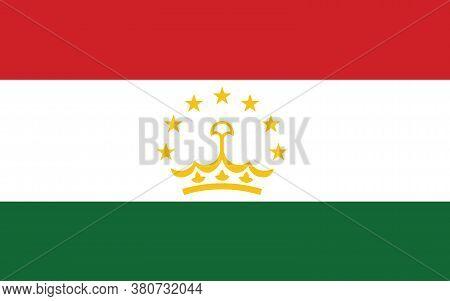 Tajikistan Flag Vector Graphic. Rectangle Tajikistani Flag Illustration. Tajikistan Country Flag Is