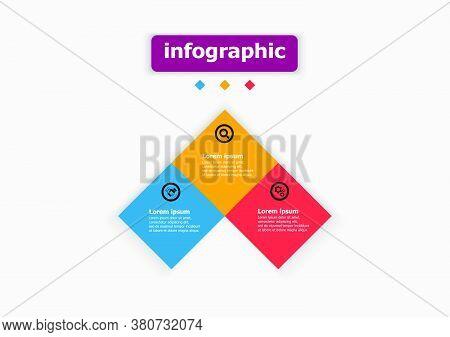 Square Vector Design Template Icon For Illustration. Planning Design Presentation Business Infograph