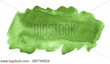 Green Abstract Watercolor Stains. Watercolor Background.