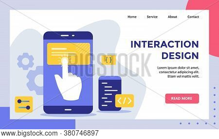 Interaction Design Finger Touchscreen Smarphone Campaign For Web Website Home Homepage Landing Page