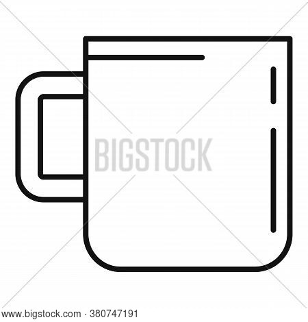 Survival Steel Mug Icon. Outline Survival Steel Mug Vector Icon For Web Design Isolated On White Bac