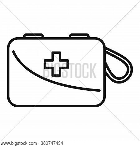 Survival First Aid Kit Icon. Outline Survival First Aid Kit Vector Icon For Web Design Isolated On W