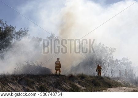 Brisbane, Australia - May 28, 2016: Australia Bushfires In Summer Fire Season