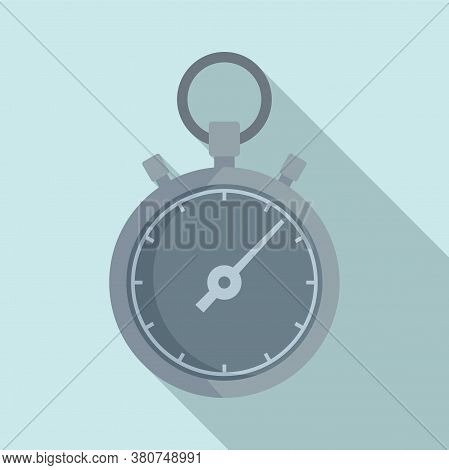 Stopwatch Repair Icon. Flat Illustration Of Stopwatch Repair Vector Icon For Web Design
