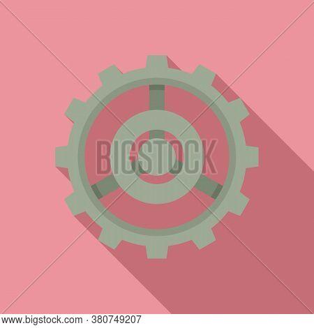 Old Watch Cog Wheel Icon. Flat Illustration Of Old Watch Cog Wheel Vector Icon For Web Design