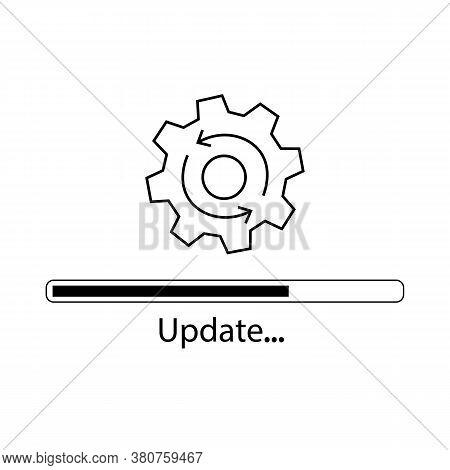 Settings Update Icon. Update. Vector Illustration Eps 10